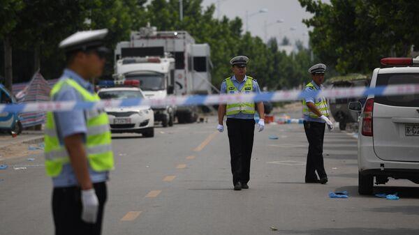 Сотрудники правоохранительных органов Китая