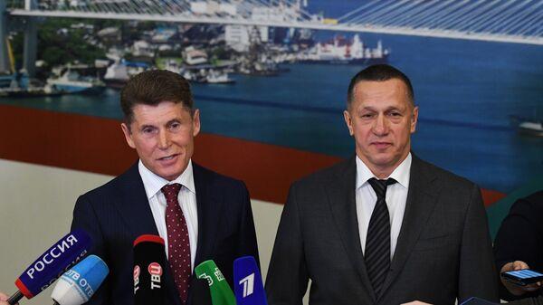Юрий Трутнев и Олег Кожемяко в администрации Приморья. 28 сентября 2018
