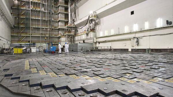 Помещение ядерного реактора атомной электростанции