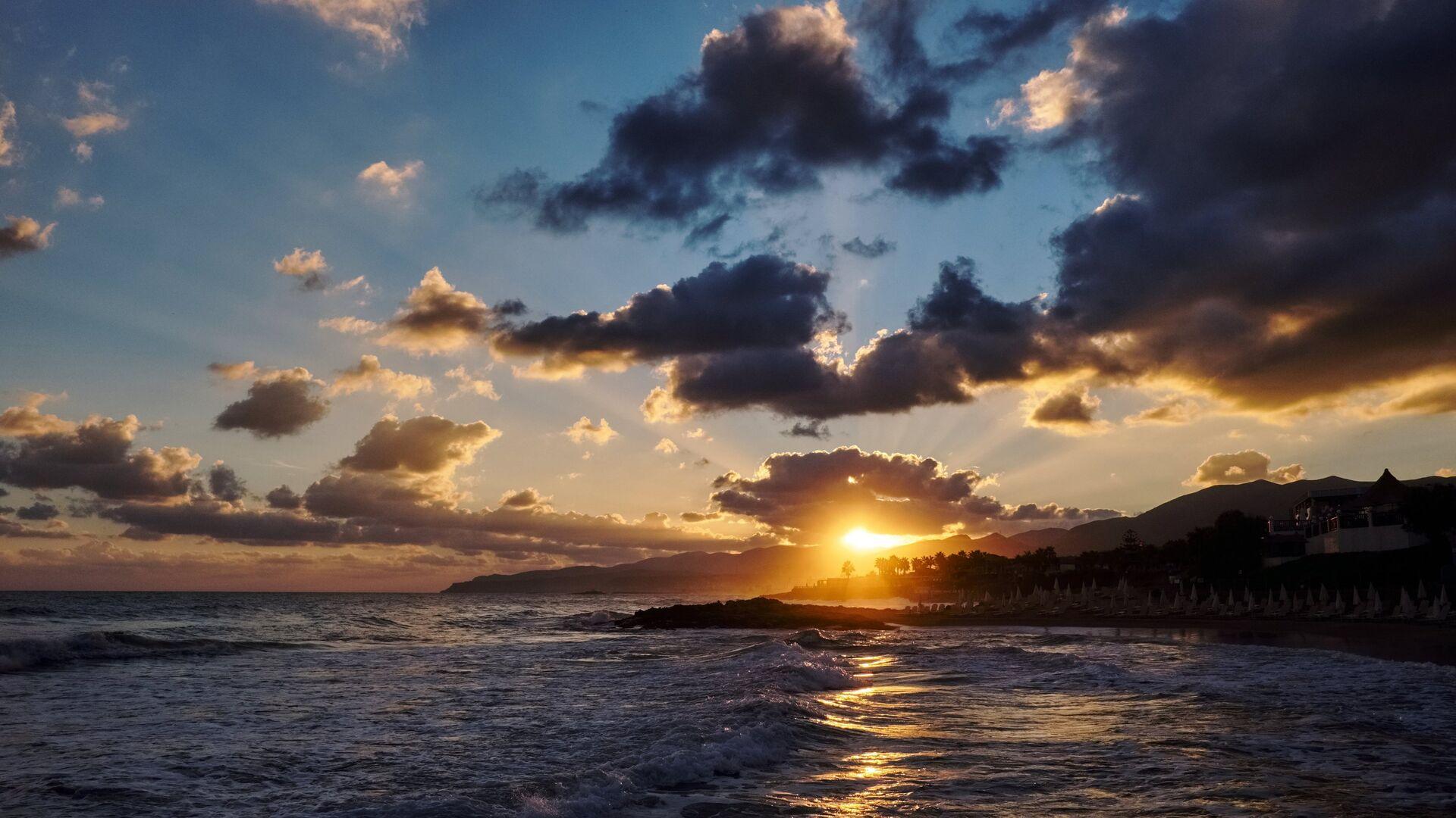 Восход над Средиземноморским побережьем - РИА Новости, 1920, 28.09.2021