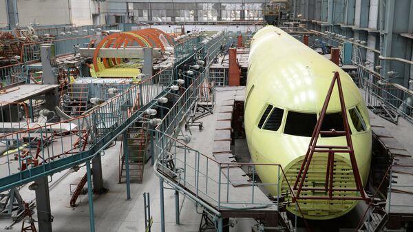Цех по производству крыльев и фюзеляжей самолетов