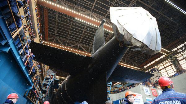Спуск на воду атомного подводного крейсера Казань ВМФ России