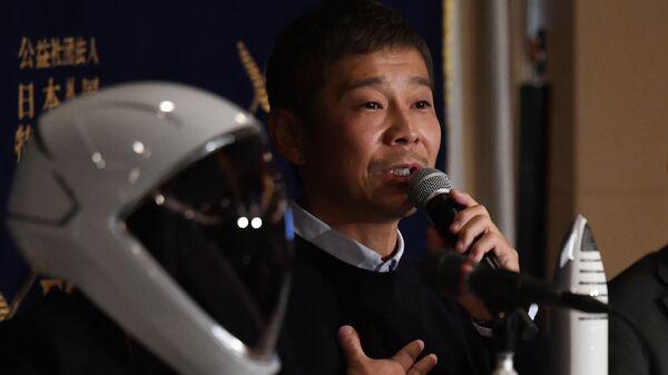 Японский миллиардер, владелец компании одежды Юсаку Маэдзава