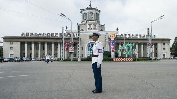 Здание железнодорожного вокзала Пхеньяна