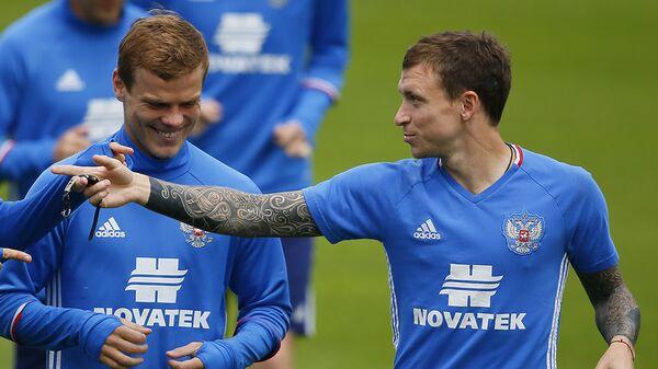 Российские футболисты Александр Кокорин и Павел Мамаев