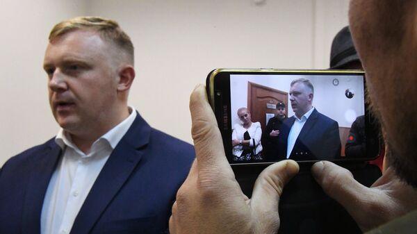 Кандидат от КПРФ на выборах главы Приморья Андрей Ищенко в Приморском краевом суде во Владивостоке. 10 октября 2018