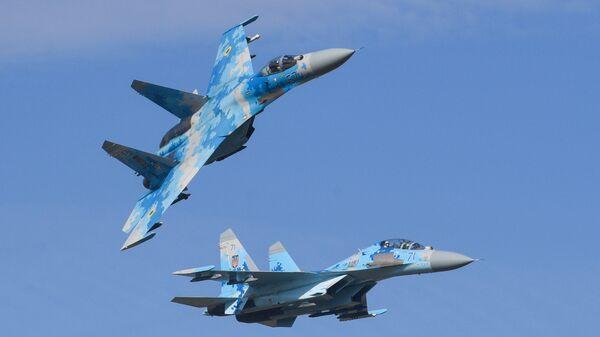 Истребители Су-27 ВВС Украины. Архивное фото