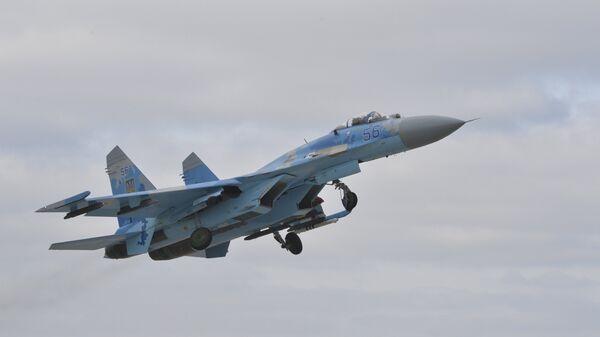 Украинский истребитель Су-27. Архивное фото