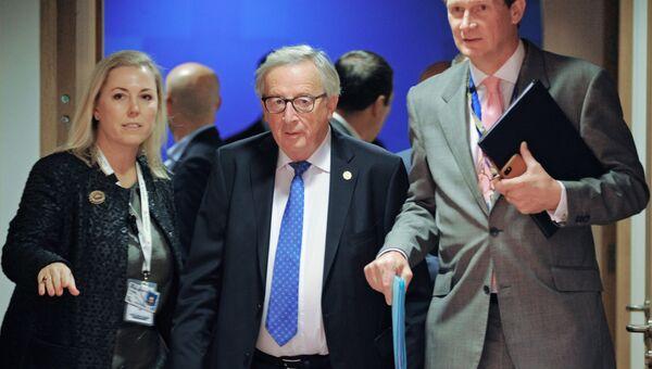 Председатель Европейской комиссии Жан-Клод Юнкер на саммите ЕС в Брюсселе. 18 октября 2018