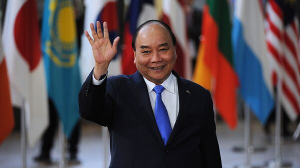 Премьер-министр Вьетнама Нгуен Суан Фук на 12-м Азиатско-европейском саммите в Брюсселе. 18 октября 2018
