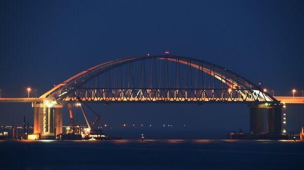 Строящийся Крымский мост