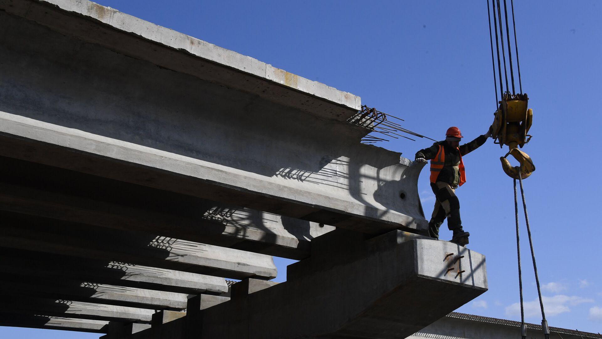 Строительство моста - РИА Новости, 1920, 29.04.2021