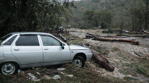 Последствия сильных дождей на территории Краснодарского края
