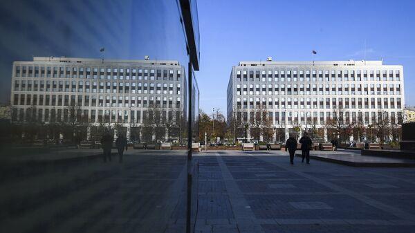Вид на здание Министерства внутренних дел РФ