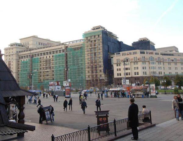 Гостиница Москва во время реконструкции. Архив
