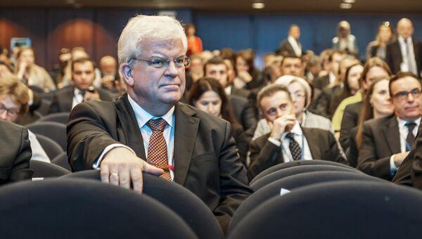 Постоянный представитель Российской Федерации при Европейском Союзе Владимир Чижов на XI Евразийском экономическом форуме в Вероне