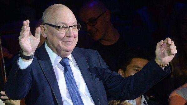 Генеральный директор Московского цирка на Цветном бульваре Максим Никулин на гала-шоу всемирного фестиваля циркового искусства Идол