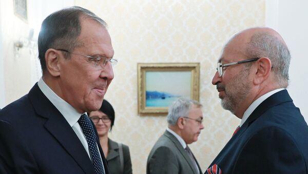 Встреча главы МИД РФ Сергея Лаврова с верховным комиссаром ОБСЕ по делам национальных меньшинств Ламберто Заньером