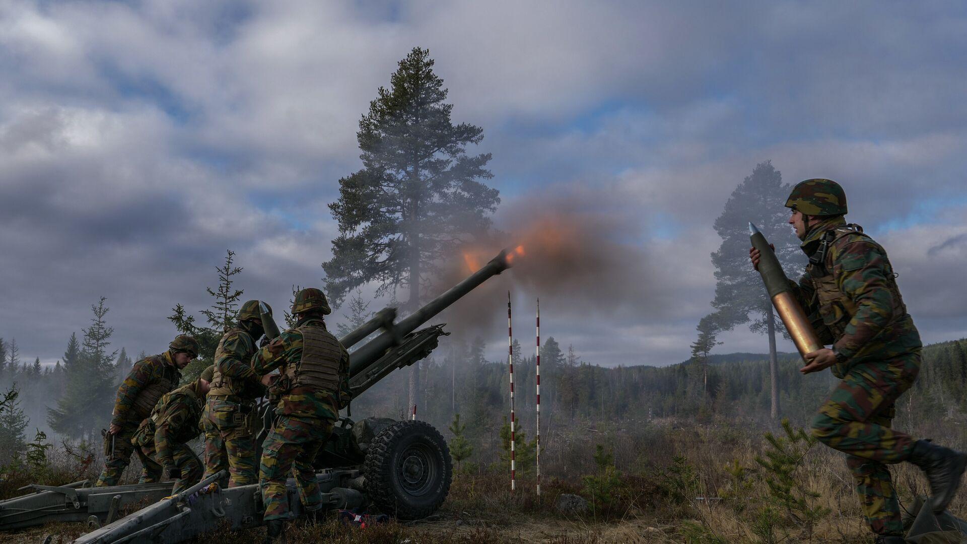 Военнослужащие Вооруженных сил Бельгии во время совместных учений войск НАТО Trident Juncture 2018 (Единый трезубец) в Норвегии - РИА Новости, 1920, 24.02.2021