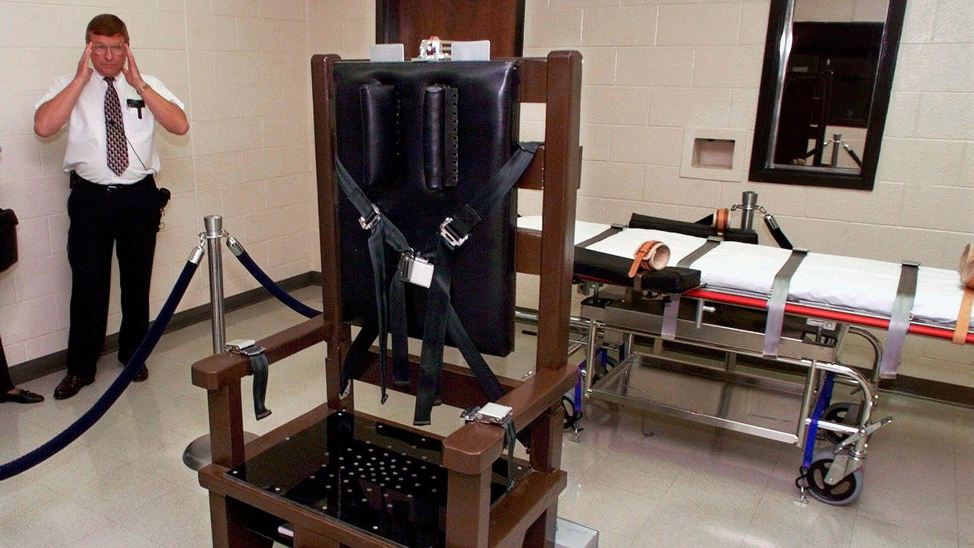 Электрический стул в тюрьме Riverbend Maximum Security Institution в Нэшвилле, штат Теннесси, США - РИА Новости, 1920, 18.05.2021