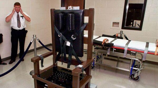 Электрический стул в тюрьме Riverbend Maximum Security Institution в Нэшвилле, штат Теннесси, США