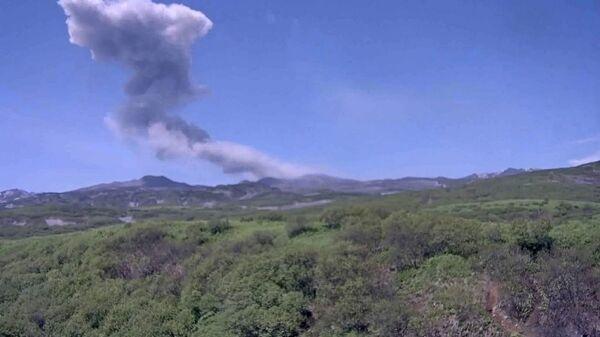 Пепловый выброс на вулкане Эбеко в Сахалинской области. 4 ноября 2018