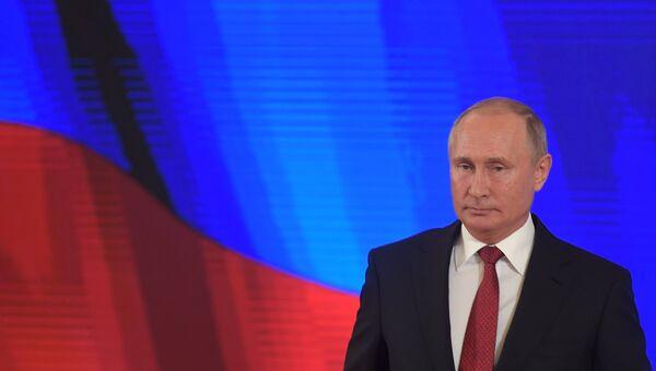 Владимир Путин на торжественном приеме в честь Дня народного единства. 4 ноября 2018