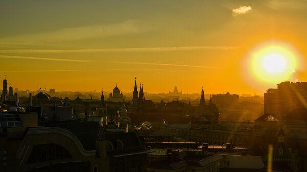 Вид на Москву со смотровой площадки Центрального детского мира