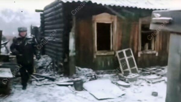 На месте пожара в городе Юрга Кемеровской области. 6 ноября 2018