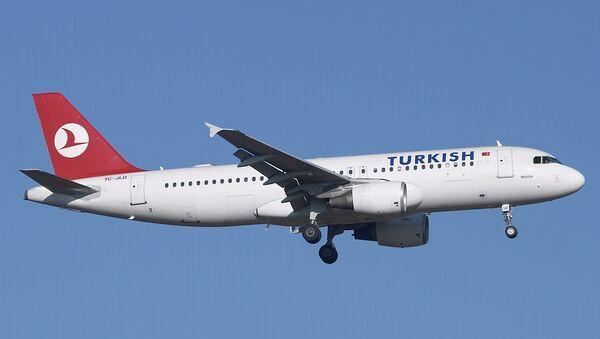 Самолет Airbus A320 авиакомпании Turkish airlines
