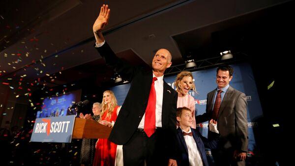 Республиканец Рик Скотт, одержавший победу на выборах в сенат США от штата Флорида
