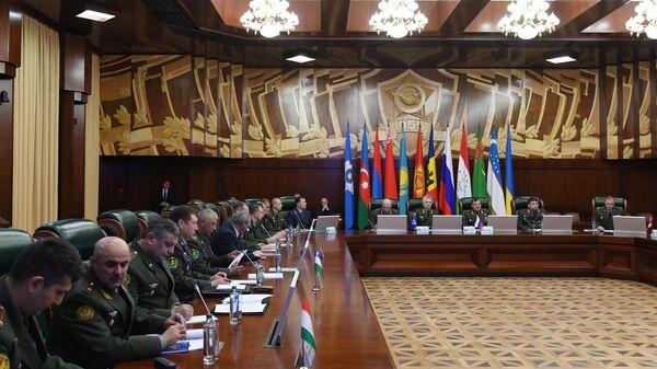 Заседание военно-технического комитета при совете министров обороны государств-участников СНГ в Москве. 8 ноября 2018