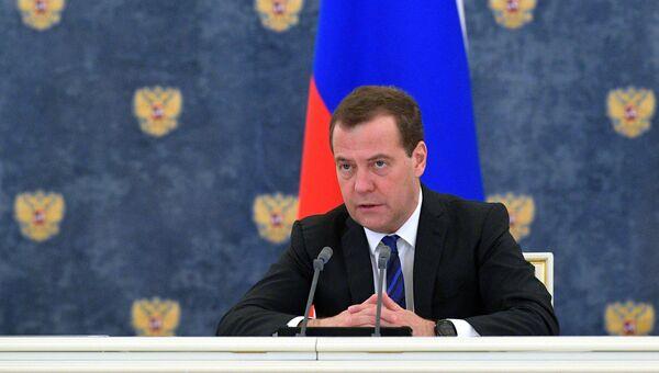 Дмитрий Медведев проводит заседание правительства РФ. Архивное фото.