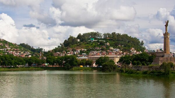 Вид на Антананариву - столицу Мадаскара