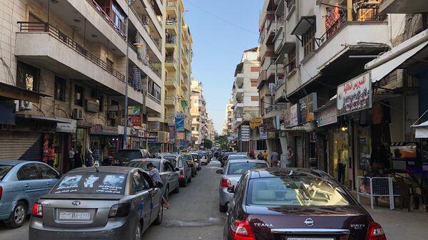 Одна из центральных улиц Латакии, Сирия