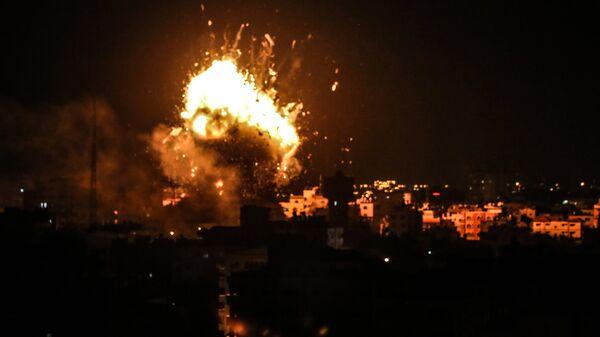 Ракетный удар Израиля по территории сектора Газа. 13 ноября 2018