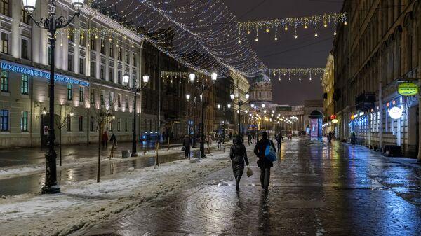 Новогоднее украшение Санкт-Петербурга