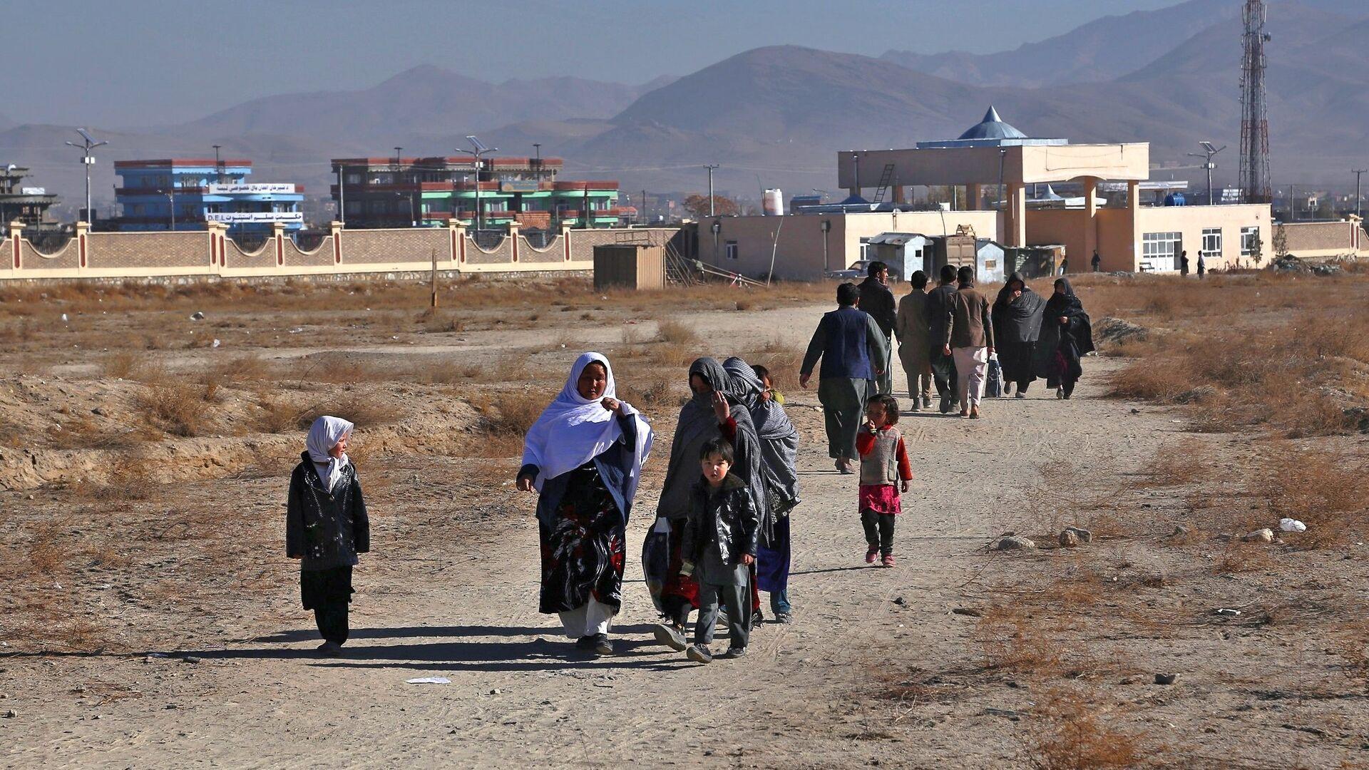 Беженцы из провинции Газни в Афганистане. 20 ноября 2018 - РИА Новости, 1920, 29.11.2020