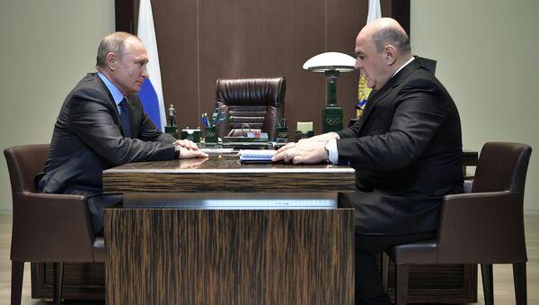 Президент РФ В. Путин провел встречу с руководителем ФНС М. Мишустиным в Сочи