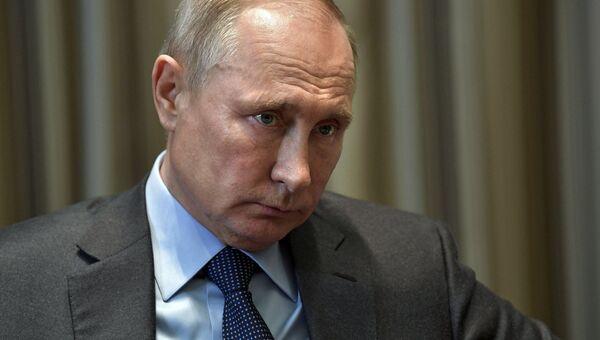 Владимир Путин во время встречи с руководителем ФНС Михаилом Мишустиным. 20 ноября 2018