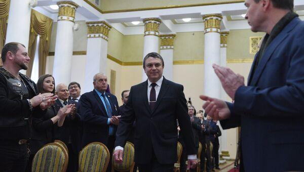 Избранный глава Луганской народной республики Леонид Пасечник на церемонии инаугурации в Луганске. 21 ноября 2018