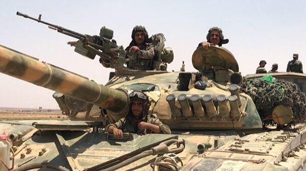 Сирийские войска вышли к границе с Иорданией в провинции Дераа