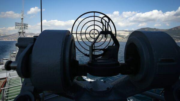 Противолодочный корабль МПК Поворино военно-морской базы Черноморского флота ВМФ. Архивное фото