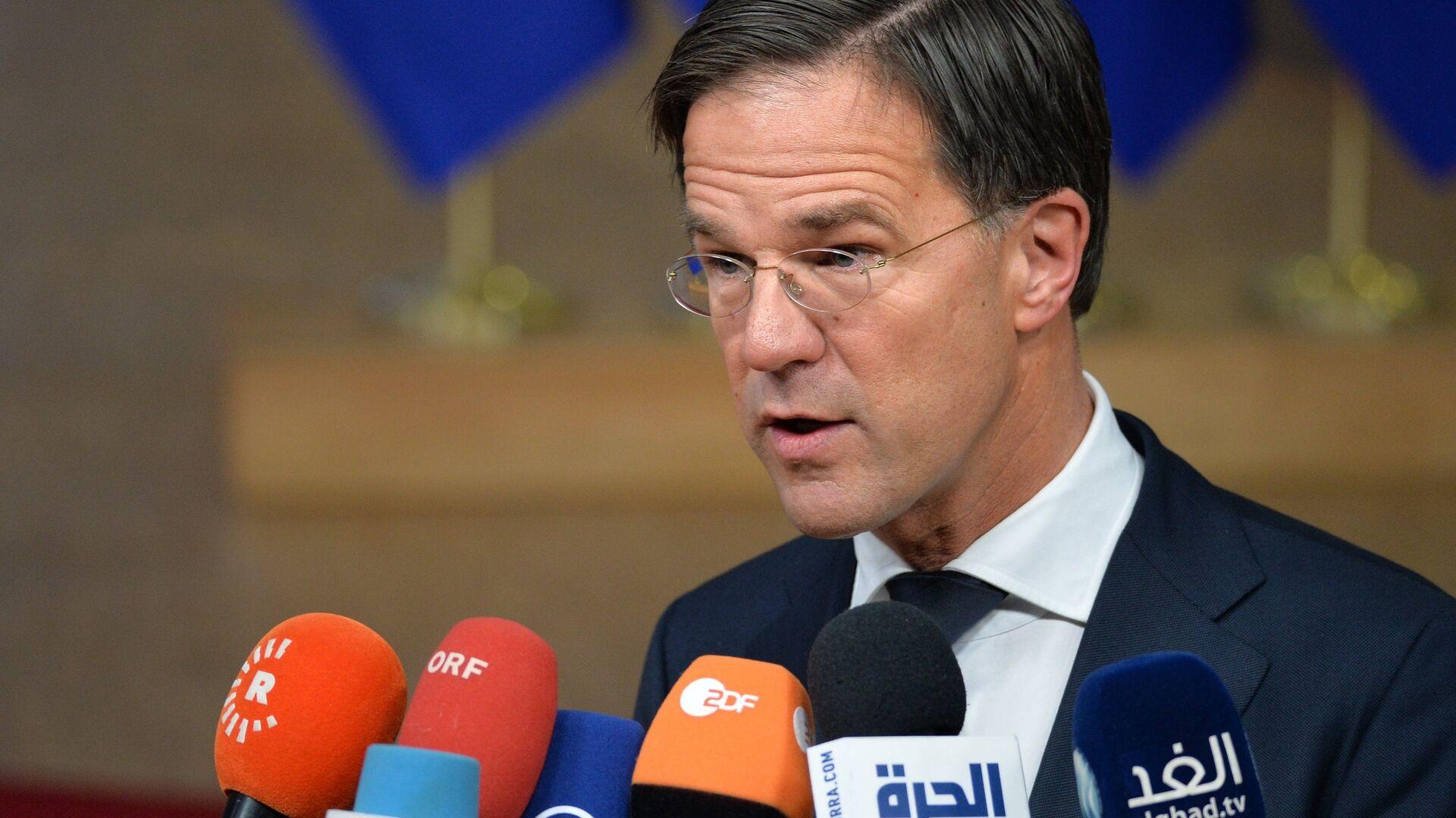 Премьер-министр Нидерландов Марк Рютте на внеочередном саммите ЕС по брекзиту в Брюсселе. 25 ноября 2018 - РИА Новости, 1920, 17.09.2021