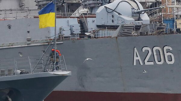 Украинские военные корабли в порту Одессы