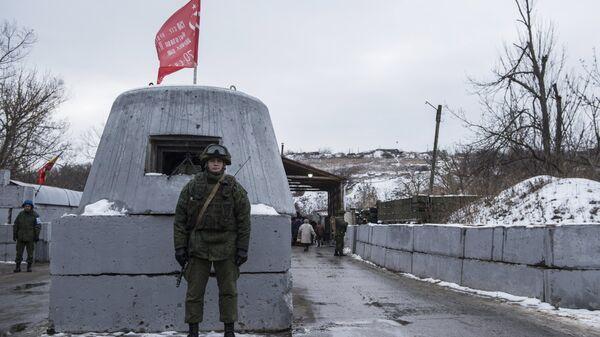 На контрольно-пропускном пункте в районе Станицы Луганской