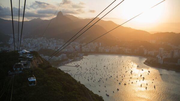 Канатная дорога на смотровую площадку на горе Сахарная голова в Рио-де-Жанейро