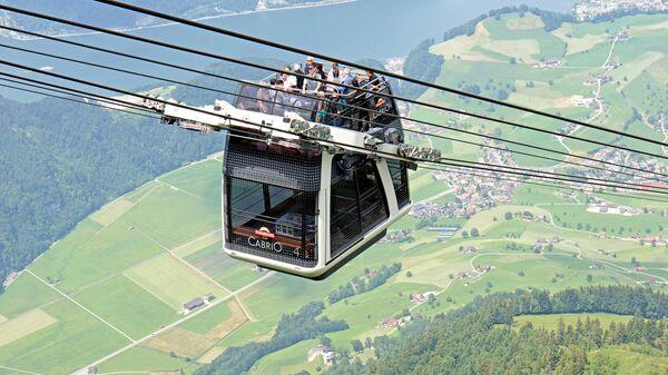 Канатная дорога над озером Люцерн, Швейцария