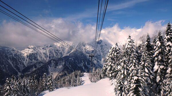 Канатная дорога в Японских Альпах