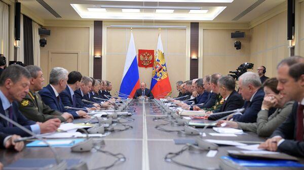 Президент РФ Владимир Путин провел заседание Совбеза РФ. 29 ноября 2018